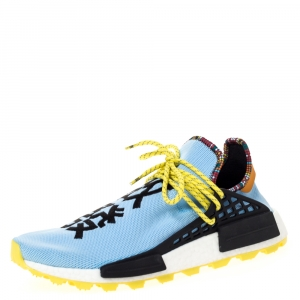 Pharrell x Adidas HU NMD Blue Cotton Knit Clear Sky - Inspiration Pack Sneakers Size 46