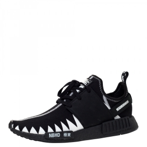 Adidas x Neighborhood Black/White Stretch Fabric And Rubber NMD R1 Sneaker Size 46