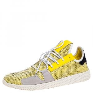 Pharrell Williams x Adidas Yellow Knit Fabric Solar Hu Sneakers Size 46