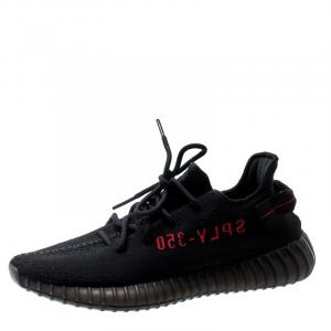 Adidas Yeezy Boost 350 V2 Black Red Sneakers Size EU 40 2/3 (US 7.5)