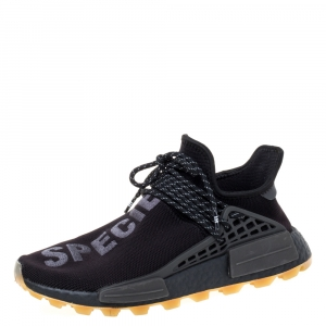 Adidas x Pharrell Williams Core Black Knit Fabric PW HU NMD PRD Sneakers Size 40