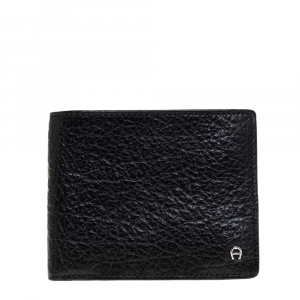 Aigner Black Leather Bifold Wallet
