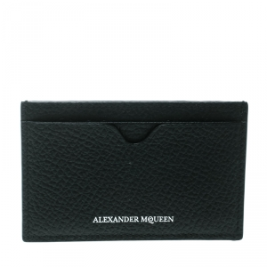 Alexander McQueen Black Leather Card Holder
