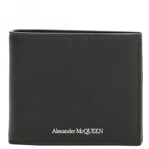 Alexander McQueen Black Leather Money Clip