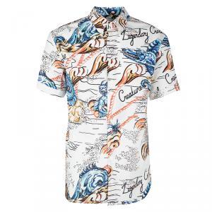 Alexander McQueen Off White Printed Button Down Legendary Creature Shirt 2XL