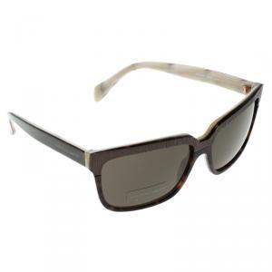 Alexander McQueen Brown Tortoise AMQ 4191/S Square Sunglasses