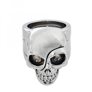 Alexander McQueen Divided Skull Silver Tone Ring Size 19