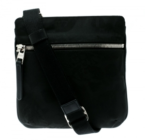 Alexander McQueen Black Canvas Messenger Bag