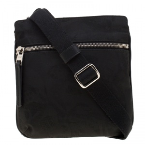 Alexander McQueen Black Nylon Messenger Bag