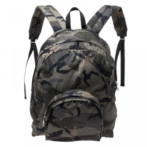 Alexander McQueen Green Camouflage Nylon Dancing Skeleton Backpack