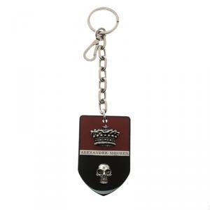 Alexander McQueen Red & Black Resin Badge Key Ring