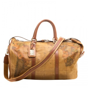 Alviero Martini 1A Classe Geo Coated Canvas Weekender Bag