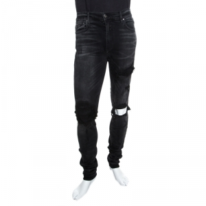 Amiri Black Washed Out Distressed MBMX1 Jeans M
