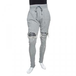 Amiri Grey Distressed Jersey MX1 Sweatpants M