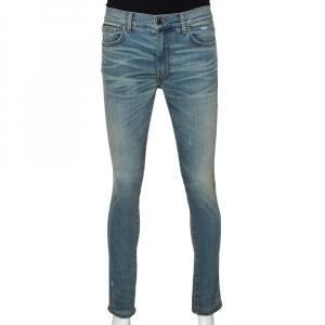 Amiri Blue Denim Distressed Skinny Jeans M