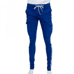 Amiri Navy Blue Cotton Side Stripe Detail Cargo Pants S - used