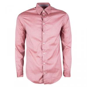 Armani Collezioni Pink Cotton Long Sleeve Button Front Shirt S - used