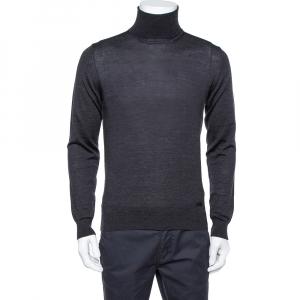 Armani Collezioni Black Wool Turtleneck Sweater XS - used