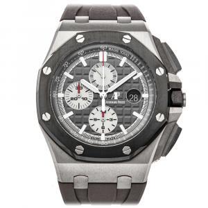Audemars Piguet Gray Titanium Royal Oak Offshore Chronograph 26400IO.OO.A004CA.01 Men's Wristwatch 44 MM