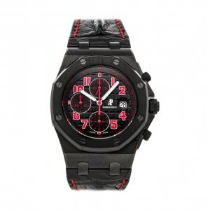 "Audemars Piguet Black/Red Stainless Steel Royal Oak Offshore ""Las Vegas Strip"" Limited Edition 26186SN.OO.D101CR.01 Men's Wristwatch 42 MM"