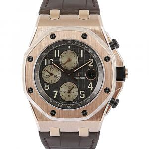 Audemars Piguet Grey 18K Rose Gold Royal Oak Men's Wristwatch 42 MM