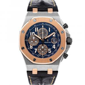 Audemars Piguet Blue 18K Rose Gold And Stainless Steel Royal Oak Offshore Chronograph 26471SR.OO.D101CR.01 Men's Wristwatch 42 MM