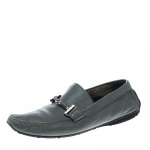 Baldinini Grey Leather Loafers Size 41.5