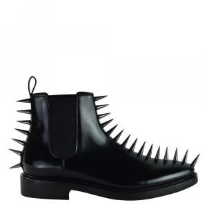 Balenciaga Black Leather Studded Pelle S.Cuoio Cuir Boots Size EU 43