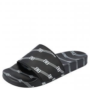 Balenciaga Black Logo Pool Slides Size EU 42