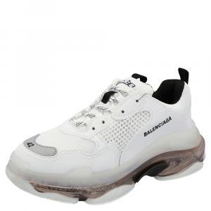 Balenciaga White Triple S  Clear Sole Sneakers Size 43