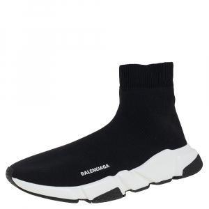 حذاء رياضي بالينسياغا سبيد ترينرهاي توب قماش تريكو أسود مقاس 42