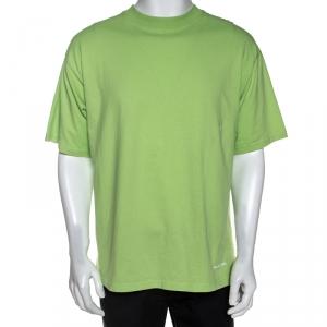 Balenciaga Green Cotton Oversized T-Shirt S