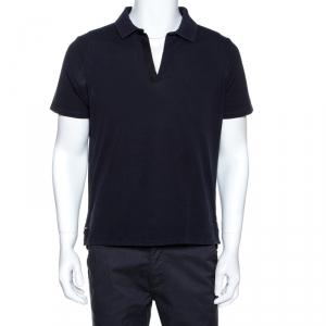 Balenciaga Navy Blue Cotton Pique Polo T Shirt L - used