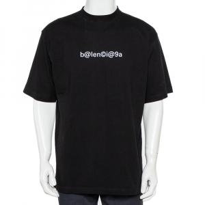 Balenciaga Black Symbolic Logo Printed Oversized T-Shirt XS - used