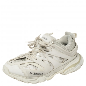Balenciaga White Leather And Mesh Track Trainers Sneakers Size 41