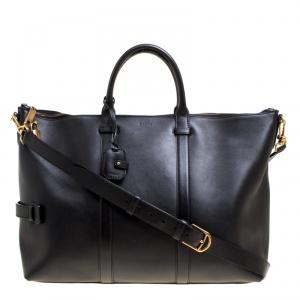 Bally Black Leather Weekend Bag