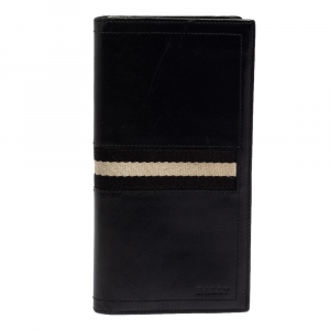 Bally Black Leather Long Wallet