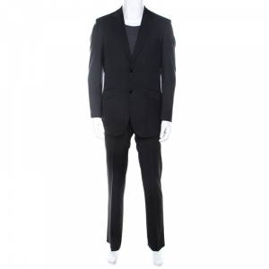 Balmain Grey Wool Regular Fit Suit XS