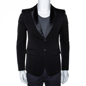 Balmain Black Wool Two Buttoned Tuxedo Jacket M
