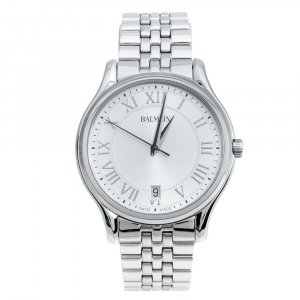 Balmain Silver Stainless Steel Beleganza B1341.33.22 Men's Wriswatch 40 mm