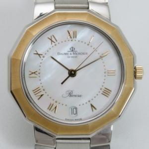 Baume & Mercier Riviera Two Toned Gold/Steel Unisex Wristwatch