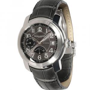 Baume & Mercier Grey Stainless Steel Capeland 65417 Men's Wristwatch 38.5 MM