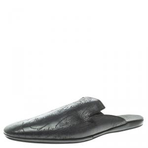 Berluti Black Leather Cyrus Slides Size 45