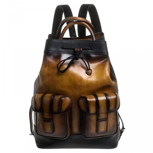 Berluti Brown Leather Horizon Backpack