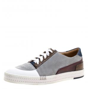 Berluti Multicolor Leather and Suede Sneakers Size 41