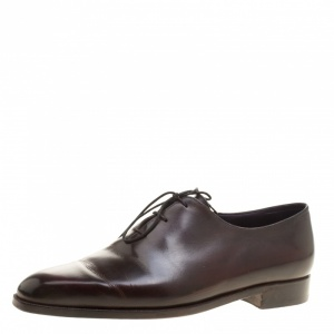 Berluti Burgundy Leather Alessandro Oxfords Size 43