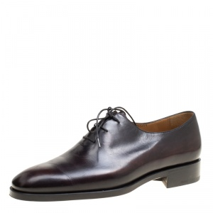 Berluti Black Leather Alessandro Oxfords Size 41