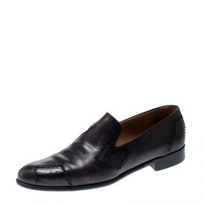 Berluti Black Leather Loafers Size 43