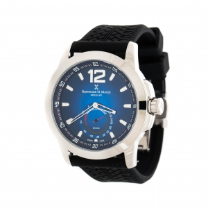 Bernhard H Mayer Blue Stainless Steel Drift Men's Wristwatch 44 mm