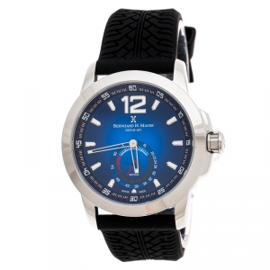 Bernhard H. Mayer Blue Stainless Steel Drift Men's Wristwatch 44 mm